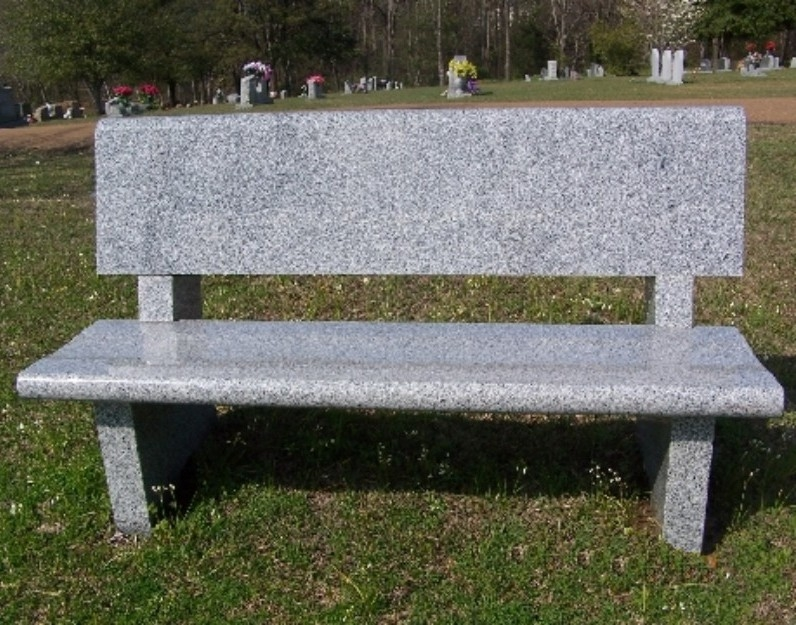 Granite cemetery benches headstones grave markers Cemetery benches