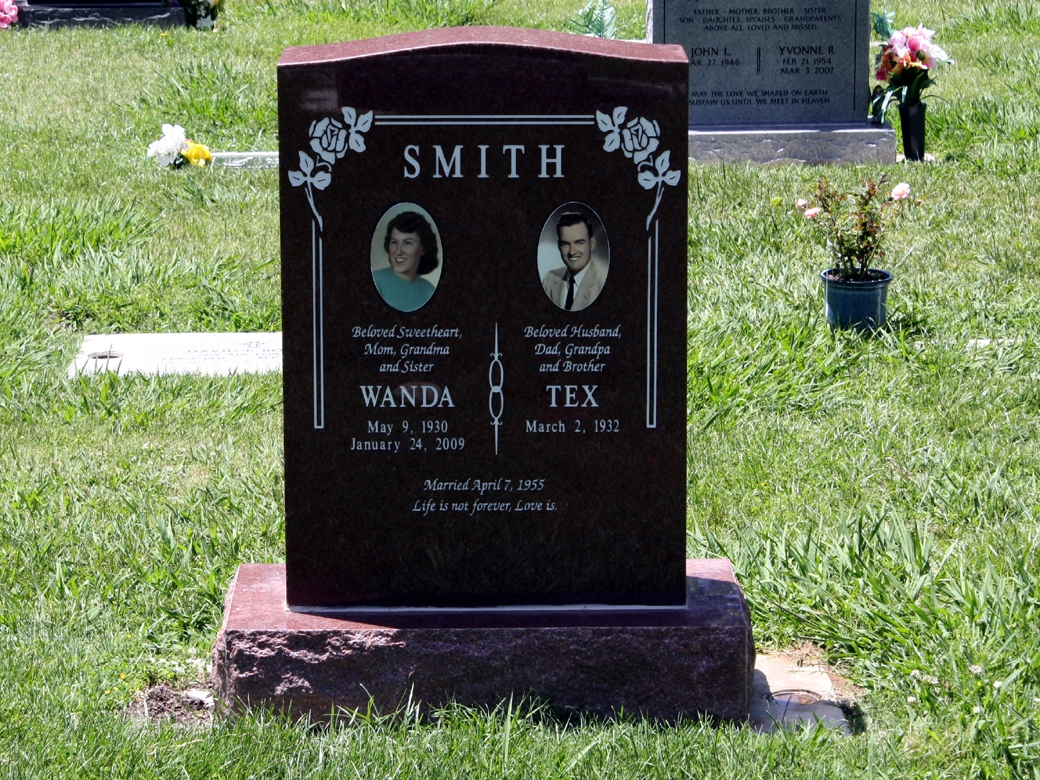 Granite Headstones Grave : Upright dies bases helping you to design a
