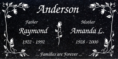 CF-5011 Black Galaxy Grave Marker Headstone Standard Engraving  Serving California