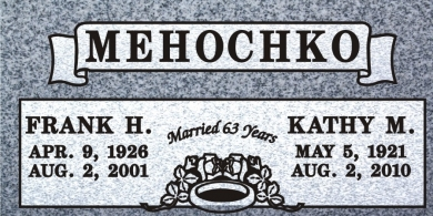 CF-5017 Light Gray Grave Marker Headstone Deep Carved Sanded Panel Engraving  Serving California