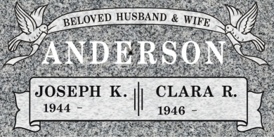 CF-5020 Light Gray Grave Marker Headstone Deep Carved Sanded Panel Engraving  Serving California
