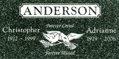 CF-5025 Hassan Green Grave Marker Headstone Standard Engraving  Serving California