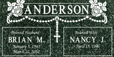 CR-4017 Hassan Green Grave Marker Headstone Standard Engraving Serving California