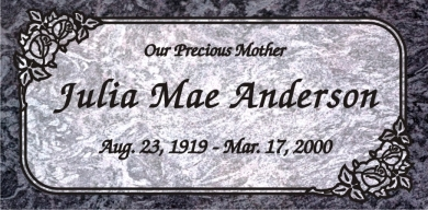 SF-1025 Bahama Blue Grave Marker Headstone Deep Cut Sanded Panel Engraving  Serving California