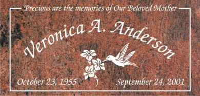 SF-1031 Multi-Color Grave Marker Headstone Standard Engraving  Serving California