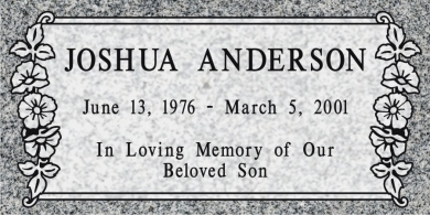 SF-1034  Light Gray Grave Marker Headstone Deep Cut Sanded Panel Engraving Serving California