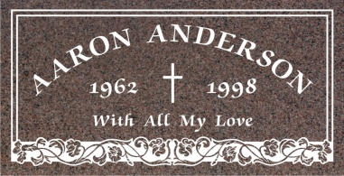 SF-1040 Carnation Grave Marker Headstone Standard Engraving  Serving California