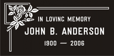SF-1048 Premium Black Grave Marker Headstone Standard Engraving  Serving California