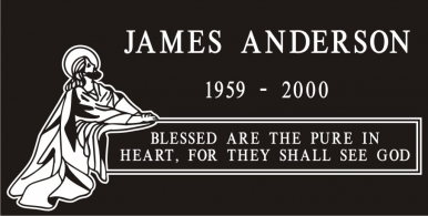 SR-3012 Premium Black Grave Marker Headstone Standard Engraving  Serving California