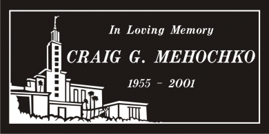 SR-3025 Premium Black Grave Marker Headstone Standard Engraving  Serving California
