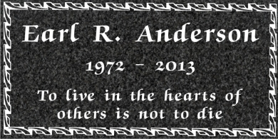 SF-1052 Imperial (Oxford) Grave Marker Headstone  Standard Engraving  Serving California