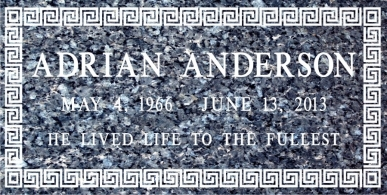 SF-1056  Blue Pearl Grave Marker Headstone Standard Engraving  Serving California