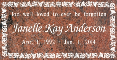 SF-1059 Multi-Color Grave Marker Headstone Standard Engraving  Serving California