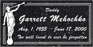 SR-3023 Galaxy Black Grave Marker Headstone Standard Engraving  Serving California