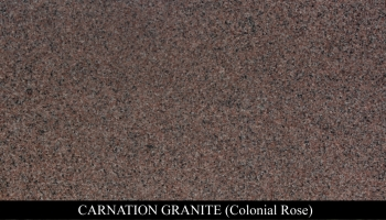 Carnation Granite for Headstone Monuments and Grave Marker Memorials