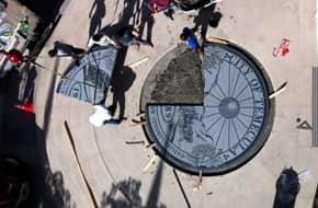 Sun  City  Granite  is  replacing  the  12  foot  City  Seal  in  Temecula