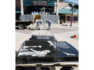 LAKE ELSINORE: Legal battles over, veterans memorial finally built by Sun City Granite Begins install of Headstone Monument